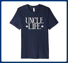 Mens Uncle Life Tshirt Fathers Day Birthday Gift Idea Large Navy - Birthday shirts (*Amazon Partner-Link)
