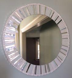 Miroir mosaïque rond