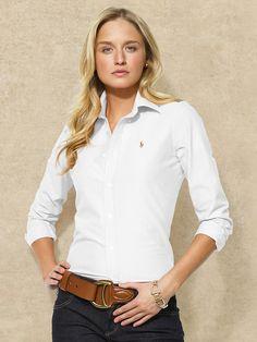 Solid Oxford Shirt - Long-Sleeve  Shirts - RalphLauren.com