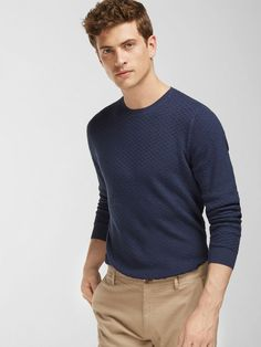 TEXTURED WEAVE SWEATER