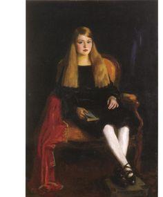 Portrait of Anne M Tucker, Robert Henri. American Ashcan School Painter (1865-1929)