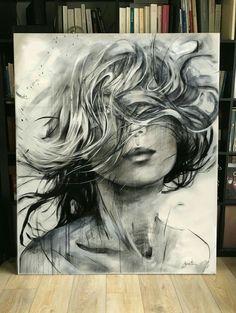 Acrylic Portrait Painting, Artist Painting, Portrait Art, Scribble Art, Dark Art Drawings, Modern Art Paintings, Color Pencil Art, Realism Art, Art Portfolio