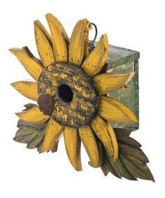 Look what I found on #zulily! Floral Burst Birdhouse #zulilyfinds