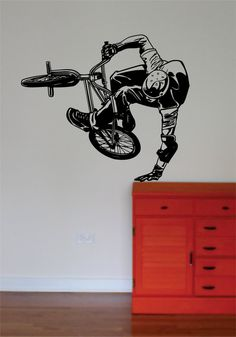 Hey, I found this really awesome Etsy listing at https://www.etsy.com/listing/175353332/bmx-biker-version-5decal-wall-vinyl-art