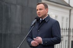 Polish president Andrzej Duda, shown here in Warsaw on April condemned anti-Semitism in a speech marking the anniversary of a massacre of Jews after World War II. 70th Anniversary, April 10, Warsaw, Slammed, World War Ii, Presidents, Polish, History, World War Two