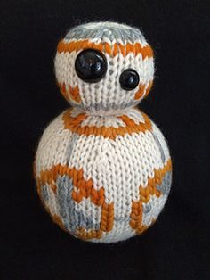 Knitting pattern for BB-8 from Star Wars: A Force Awakens!  Cute!!