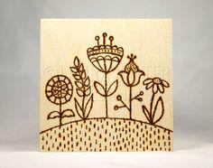 Original Wood Burning Art / Pyrography Art / Flower Hill on Etsy, $27.34 AUD