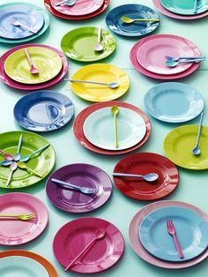 Melamine Plates from RICE vrolijke kleurrijke tafel kinderen kids colorful table