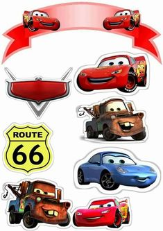 Cars fiesta infantil torta 47 best ideas cars ideas cars fiesta infantil bolsitas for 2019 cars Disney Cars Party, Disney Cars Cake, Disney Cars Birthday, Cars Birthday Parties, Disney Pixar Cars, Boy Birthday, Auto Party, Car Cake Toppers, Cupcake Toppers Free