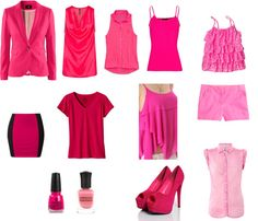 """Fucsia & Rosa"" by estefi-04-6 on Polyvore"