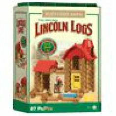 Lincoln Log Buckaroo Barn Building Set by Hasbro by Hasbro. $37.97. Original Lincoln Logs. Real Wood Logs.. Buckaroo Barn Building set.. Includes 79 Logs, 1 Horse figure, 1 Cowboy Figure, 1 Hay bale, 1 door, 1 door frame, 1 barn roof, 1 add-on roof, 1 trough and instructions. Original Lincoln Logs.  A Classic since 1916.