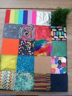 A sensory board made by the lovely ali leonard. Baby Sensory Board, Baby Sensory Play, Sensory Wall, Sensory Activities Toddlers, Sensory Rooms, Sensory Boards, Montessori Activities, Infant Activities, Craft Work For Kids