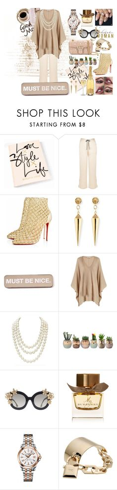"""""""#01"""" by nikitamerchant ❤ liked on Polyvore featuring River Island, Christian Louboutin, Sydney Evan, RIPNDIP, Brunello Cucinelli, Chanel, Alice + Olivia, Burberry, Certina and Dsquared2"""