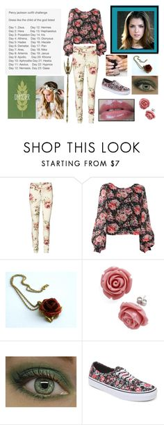 """""""Percy Jackson Outfit Challenge"""" by moon-and-back-babe123 ❤ liked on Polyvore featuring Vero Moda, Vans, Crystal Clear Skincare and Emily Rose Flower Crowns"""