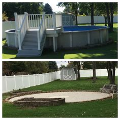 On this project the existing deck and above ground pool for Above ground pool removal ideas