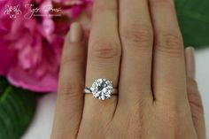 4 Carat Low Profile Solitaire Engagement Ring 4 by TigerGemstones