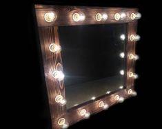 Vanity Hollywood mirror, Mirror with lights, Makeup mirror, Mirror with lamps, Mirror with lights for showroom Hollywood Mirror, Mirrors For Makeup, Makeup Mirror With Lights, Bulb Mirror, Mirror Mirror, Mirror Buffet, Vanity Mirrors, Choosing Light Bulbs, Ideas