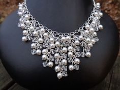 Collana Marie: Perle Swarovski e cristalli stile collana