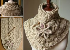 How to DIY Pretty Cable Knitted Scarfette | www.FabArtDIY.com