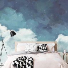 14 Fabulous Rustic Chic Bedroom Design and Decor Ideas to Make Your Space Special - The Trending House Kids Bedroom Wallpaper, Bedroom Murals, Wallpaper Decor, Vinyl Wallpaper, Bedroom Themes, Wall Murals, Bedroom Decor, Children Wallpaper, Wallpaper Designs