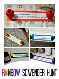 Rainbow Beads Scavenger Hunt - Educational Activity for Kids