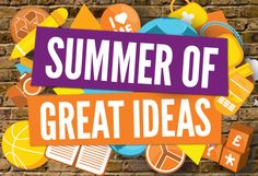 Be a part of the Summer Of Great Ideas! This summer we're looking for the next set of great ideas we want to help make a reality. Why not use your summer to try something new and change something in your area? http://LiveUnLtd.com/SummerOfIdeas