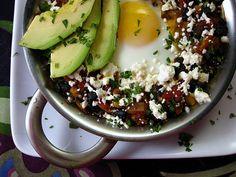 Cara's Cravings » Southwestern Egg & Black Bean Skillet