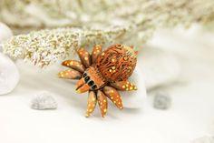 Orange Spider Totem Figurine Sculpture Guardian by DemiurgusDreams
