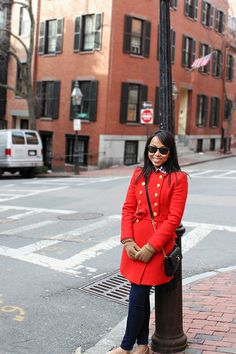 i want a red pea coat sooo bad!!