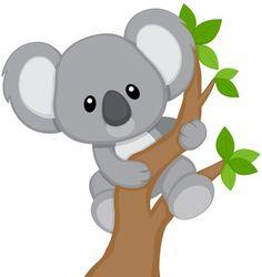 Cute Koala Bear Colorful Wall Decals - Koala Bears Climbing Trees / Jungle Zoo Animals Animal For Kids Bedroom Babies Baby Nursery Rooms Koala Baby, Cute Koala Bear, 2 Baby, Zoo Animals, Animals For Kids, Cute Animals, Koala Craft, Applique Patterns, Cute Drawings