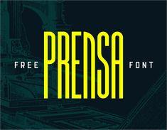 Vedi questo progetto @Behance: \u201cPrensa Free Font\u201d https://www.behance.net/gallery/50486625/Prensa-Free-Font