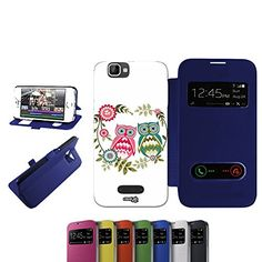 cool CASELABDESIGNS FLIP LIBRO CARCASA FUNDA BIRDY COUPLE PARA WIKO BLOOM 2 BLU - FUNDA DE PROTECCIÓN PLEGABLE AZUL