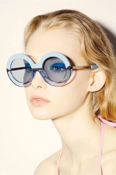 #blue #sunglasses #woman