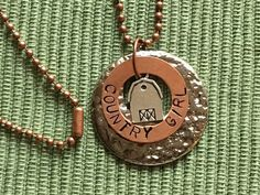 Country Girl Hand Stamped Necklace.  Get free shipping 11/7 - 12/31/2016.  Use coupon code FREESHIPPING.