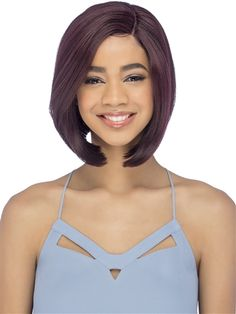AL-Kale Wig by Vivica Fox: Straight layered cut w/ long side bang is a classic bob style that is perfect for any day to night look. Synthetic Lace Front Wigs, Synthetic Hair, Long Side Bangs, Vivica Fox, Classic Bob, Styling Brush, Color Ring, Bob Styles, Night Looks