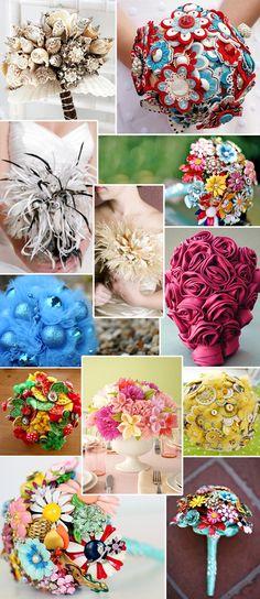 DIY bridesmaid bouquets | Go *Green* with Flowerless, DIY Wedding Bouquets! | The Best Wedding ...