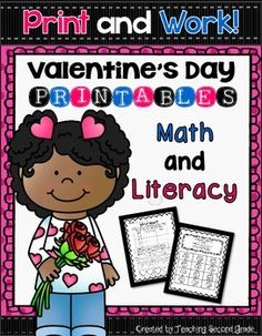 Valentine's Day Math and Literacy Printables Activities Worksheets pages of fun. All aligned to the Common Core  This packet includes the following pages:  **Which Heart?  (Probability) **Valentine's Day Syllables (1,2, and 3 syllables) (Cut and Paste) **Valentine Nouns (Person, Place, or Thing) (Cut and Paste) **Help the Children Find Their Candy (Nouns and Adjective Sort) (Cut and Paste) **Which Holiday?  (Cut and Paste on Venn Diagram) Directions:  Read each clue in the boxes, then ...