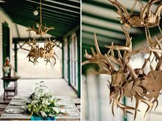 Wedding Inspiration - Emerald, Antlers