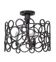 Kalco Lighting Ashbourne 3 Light Semi Flush in Vintage Iron 2764VI #lightingnewyork #lny #lighting
