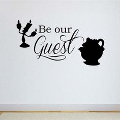 Disney Vinyl Wall Word Decal - Be Our Guest (Beauty and the Beast) - Disney Decor - Children's Room Decor Beauty And Beast Quotes, Disney Beauty And The Beast, Vinyl Wall Decals, Wall Stickers, Beauty And The Beast Wallpaper, Disney Rooms, Disney Disney, Disney Home Decor, Vinyl Gifts