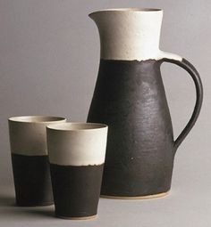 Lucie Rie neutrals 2015 - pottery - ceramics - black and white Ceramic Pitcher, Ceramic Tableware, Ceramic Cups, Ceramic Pottery, Ceramic Art, Earthenware, Stoneware, Pottery Classes, Ceramics Projects