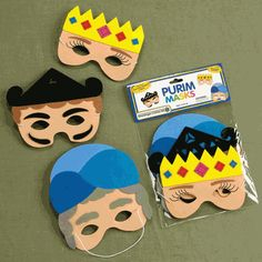 Masks for Purim (Esther) we could make these!  Can do different types of masks