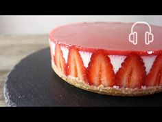 No-Bake Strawberry Cheese cake   ASMR Cooking sounds - YouTube