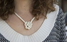 Celebrate St. Patrick's Day with a beautiful Irish Knot Rope Necklace. Read more on Babble.