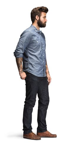 Bluer Denim   Slim Straight Jean