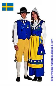 National clothes of Sweden, as you can see they also emblematize the national colors Vietnam Costume, International Festival, Historical Costume, Traditional Dresses, Sweden, Doll Clothes, Beautiful Women, Disney Princess, How To Wear