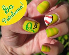 Sonoma Nail Art: Petaluma National Little League.   I've only posted this because I grew up in Petaluma.