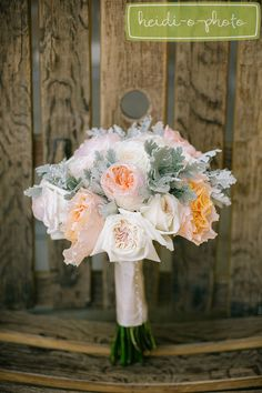 photography by www.heidiophoto.com - ivory peach and pink rose floral wedding bouquet by http://sugarroseflowers.com/