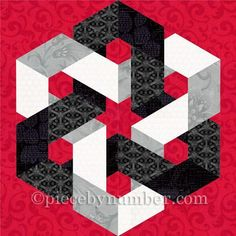 (7) Name: 'Quilting : Hexagonia paper pieced block