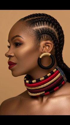 85 Box Braids Hairstyles for Black Women - Hairstyles Trends African Earrings, Tribal Earrings, African Jewelry, Black Earrings, Statement Earrings, Indian Earrings, African Beads, Tribal Jewelry, Diy Earrings